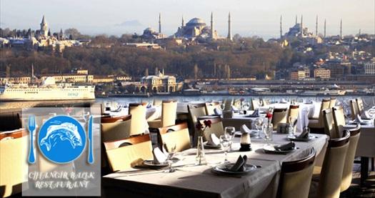 Muhteşem istanbul manzaralı cihangir balık restaurant da zengin