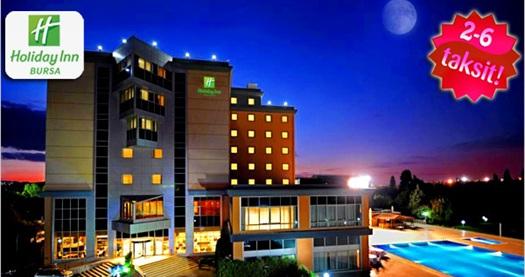 Holiday Inn Hotel Bursa'da çift kişilik 1 gece konaklama ve masaj keyfi 420 TL yerine 159 TL! 30 Aralık 2012 tarihine kadar; Cumartesi ve Pazar geceleri için geçerlidir. Fırsata; açık büfe kahvaltı, spa kullanımı ile 30 dk'lık klasik masaj dahildir.