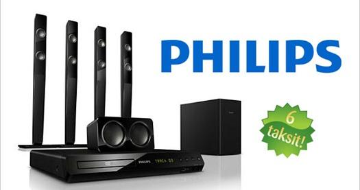 Philips 5 1 ev sinema sistemi 869 tl yerine 459 tl