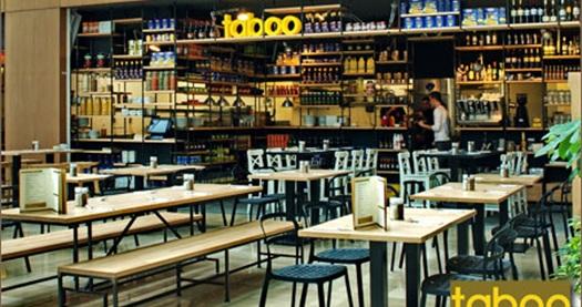 Levent Sapphire Taboo Restaurant'ta burger veya makarna, tatlı ve ...